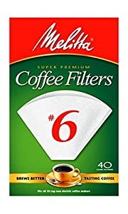 Melitta Cone Coffee Filters, White, No. 6, 40-Count Filters (Pack of 12) at Sears.com