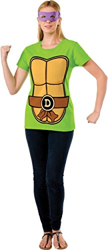 Donatello Teenage Mutant Ninja Turtles Ladies Costume T-shirt & Mask