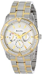 Bulova Men's 98E112 Diamond Set Stainless Steel Watch