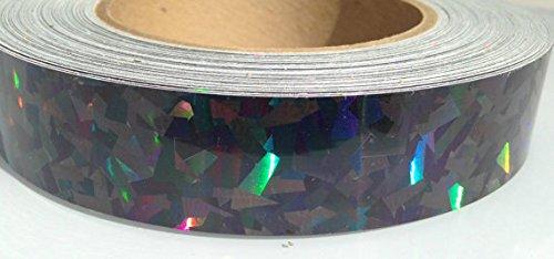"60 ft. roll of 1"" Black Kaleidoscope Metallic Hula Hoop Tape"