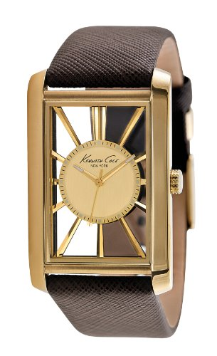 Kenneth Cole New York Men's KC1906 Transparency Tank Transparent Case Watch