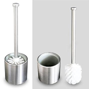 Edelstahl WC Bürste Klobürste Toiletten Bürste Silber Ersatzbürste 60cm Stiel