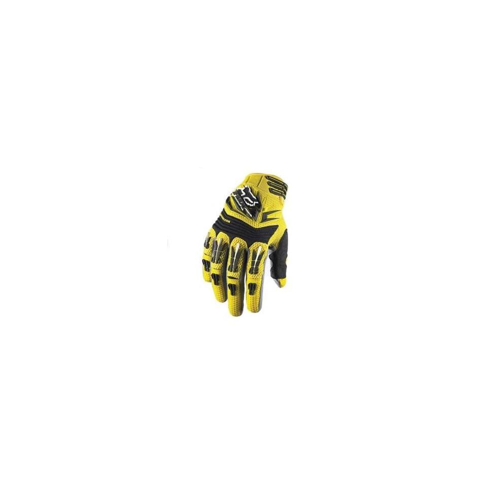 Fox Racing Pawtector Gloves   XX Large/Yellow