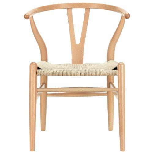 LexMod C24 Wishbone Chair in Natural 22 Wishbone