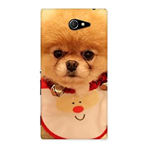 Luxirious Cutest Pup Multicolor Back Case Cover for Sony Xperia M2
