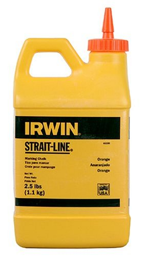 IRWIN Tools STRAIT-LINE 65205 High-Visibility Marking Chalk, 8-ounce, Orange (65205)