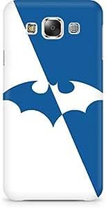 Amez designer printed 3d premium high quality back case cover for Samsung Galaxy E5 (Batman Blue n white)