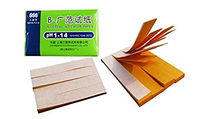 Huaha 3 Packs PH 1-14 Test Paper Litmus Strips Tester, 80pcs Per Pack