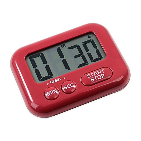 Oneida Large Display Digital Timer in Red, Battery included | 3-1/2