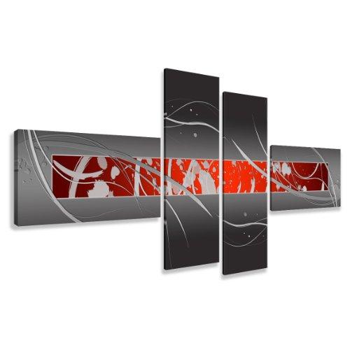 Quadro su tela abstract 195 x 80 cm 4 tele modello nr XXL 6803. I quadri sono montati su telai di vero legno. Stampa artistica intelaiata e pronta da appendere