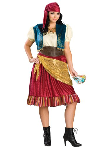 Plus Size Gypsy Costume Sexy Dress Peasant Complete Womens Theatrical Costume