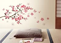 DIY Removable Sakura Flower Bedroom Vinyl Decal Art Decor Wall Sticker 45*60CM (Small-45*60CM) by Other