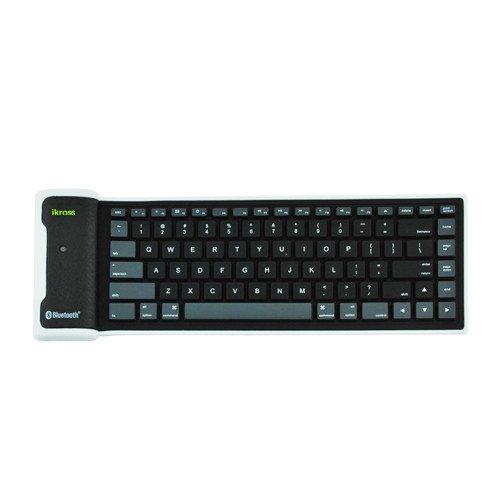 iKross Bluetooth Wireless Flexible Foldable Keyboard