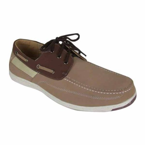 Mens New Smart Brown Loafer Boat Deck Shoes Size UK 10