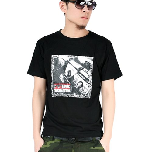 Zero Unisex Hipster Hip Hop Record T Shirts (L ( Us Size M ), Black)