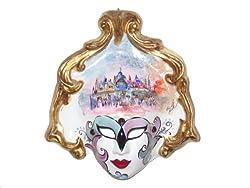 St Marks Square Paper Mache Watercolor Venetian Decorative Wall Mask