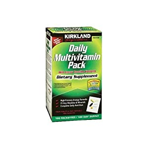 Kirkland Signature Daily Multivitamin Pack With Energy Boosting Nutrients, 100 Packets