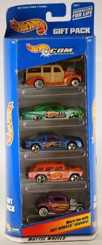 1998 - Mattel - Hot Wheels - Dot Com Gift Pack - 5 Car Set - Rare - Out of Production - New - Mint