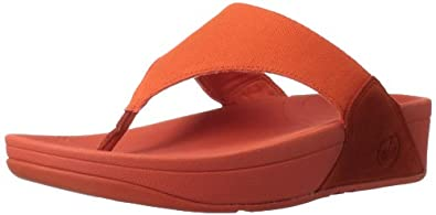 FitFlop Sandals Lulu Canvas Ultra Orange Ultra Orange UK8