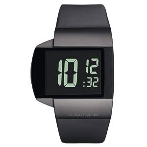 Junghans Herren-Armbanduhr XL Futura Digital Leder 026/4104.00