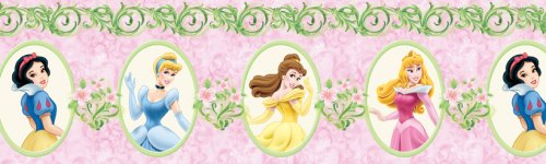 Blue Mountain Wallcoverings DF026304BFP Princess Magical Garden Prepasted Wall Border