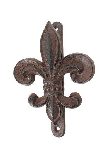 Rustic Cast Iron Fleur De Lis Door Knocker front-853278