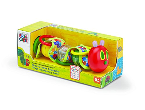 World of Eric Carle,  The Very Hungry Caterpillar  Wiggly Rattle Toy  with Music and Lights by Kids Preferred - 1