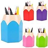 Oksale® Makeup Brush Vase Pencil Container Pot Pen Holder Stationery Storage Organizer (Green)