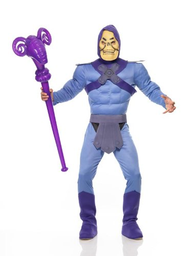 Skeletor Master of the Universe Muscle Costume for Men - Halloween - 80s Cartoon Fancy Dress -Dressing up for Halloween?