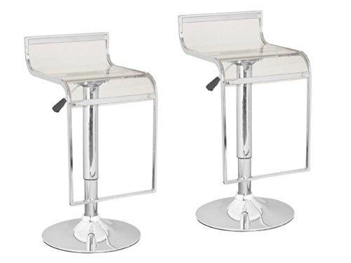2 x Acrylic Hydraulic Lift Adjustable Counter Bar Stool  : 41W0fomYbSL from ebay.com size 500 x 375 jpeg 16kB