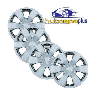 Set Of Four 14 Inch 2005 - 2006 Pontiac Wave Sedan (Canada) Hubcaps Wheel Covers With A Chrome Finish