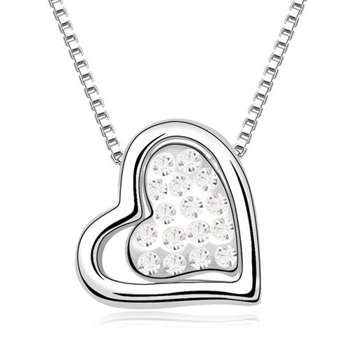 Mqueen Fashion Heart Pendant Necklace front-309494