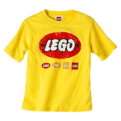 LEGO® Storage Orange Transparent Round Brick 1 with Retro LEGO® T-shirt