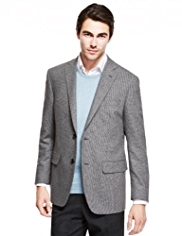 Collezione Wool Blend 2 Button Mini Checked Jacket
