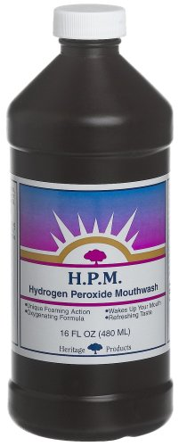 Heritage Products Hydrogen Peroxide Mouthwash, 16-Ounces (Pack of 4) (16 Hydrogen Peroxide Teeth compare prices)