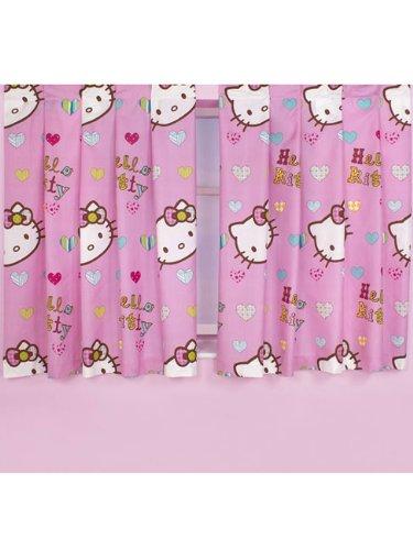 Character World 72-inch Hello Kitty Folk Curtains, Multi
