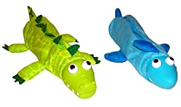 Inkology Bug Eye Pencil Pouches, Aquatic Collection, Set of 6 Pouches, Assorted Designs (04077)