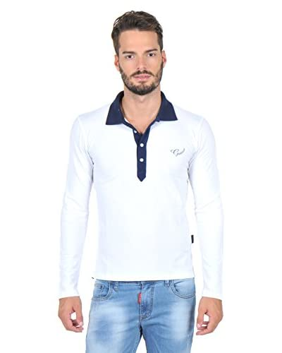 Giorgio Di Mare Polo Manga Larga Blanco