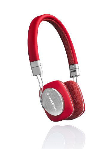 Bowers & Wilkins P3 Headphones - Red/Grey