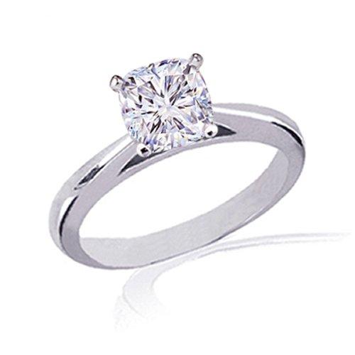 Cushion Cut Solitaire Engagement Rings 0 70 Ct Cushion Cut Solitaire Diamond