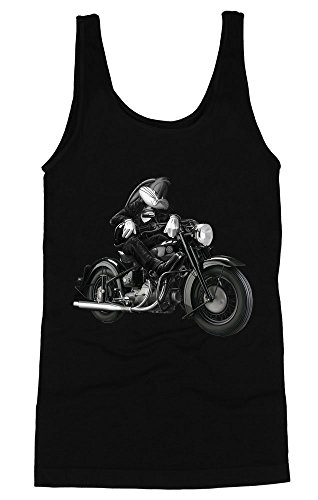 Portrait Of Biker Bugs Bunny Women's Tank Top Medium