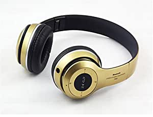 Goldenchildhood New Wireless Bluetooth Headphones,Stereo Headset,Wireless Bluetooth Stereo Music Foldable Headphones Wired Headsets (gold)