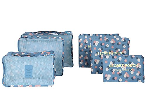 6-sets-travel-organizers-packing-cubes-luggage-organizers-compression-pouches-blue-daisy