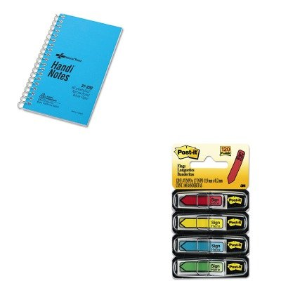 купить KITMMM684SHRED31220 - Value Kit - National Wirebound Memo Book (RED31220) and Post-it Arrow Message 1/2amp;quot; Flags (MMM684SH) онлайн