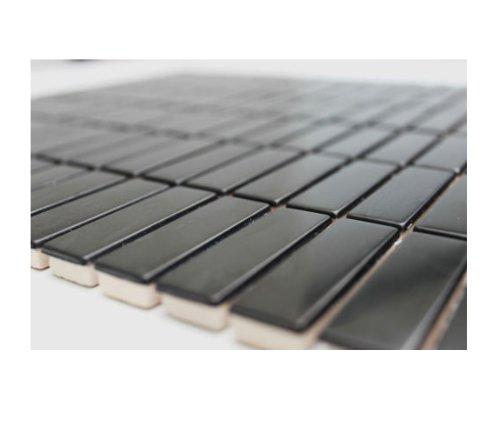 Edelstahl Mosaik Glasmosaik Fliesen Edelstahlmosaik - Edelstahl-Black - 1 Matte