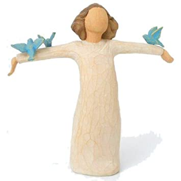 #!Cheap Willow Tree Happiness Angel Figurine, Susan Lordi 26130
