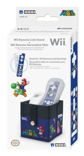 Hori Remote Link Stand and Skin Set: Super Mario Version -Blue (Nintendo Wii) [Edizione: Regno Unito]