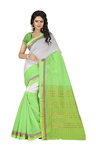 Harsh Sarees Women's Multi Colour Supernet Cotton Saree (GUD-1299_Multi Colour)