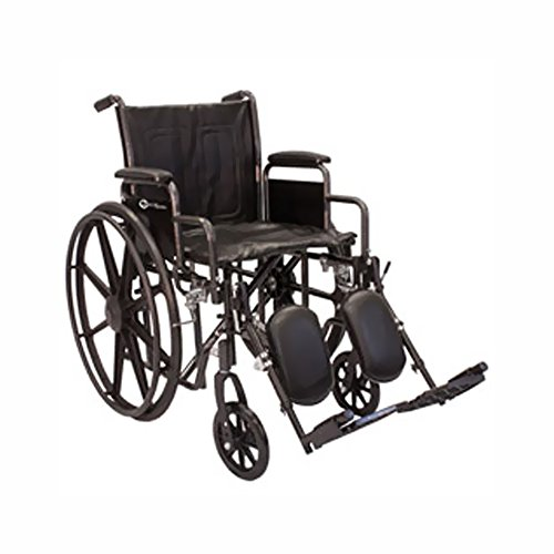 Roscoe Medical K2St1616Dhrel K2-Lite Wheelchair Fixed Full-Length Arms , Swing-Away Footrestspowder-Coated Silver Vein Steel