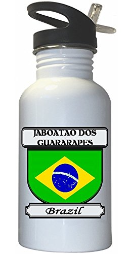 jaboatao-dos-guararapes-brazil-city-white-stainless-steel-water-bottle-straw-top